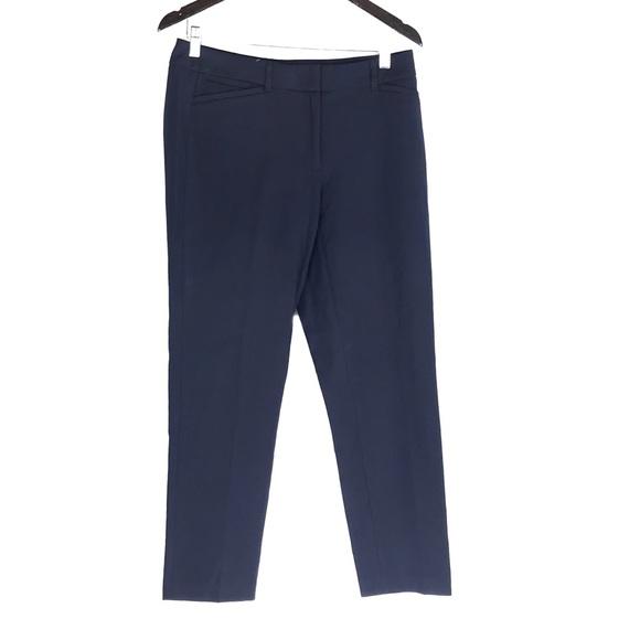 White House Black Market Pants - White House Black Market Navy Blue Slim Ankle Pant